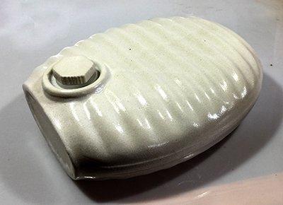 陶器製湯たんぽ(山九製) 茶色(アメ色)