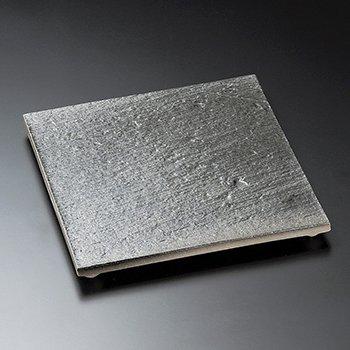 黒陶石目四つ足角皿(大)