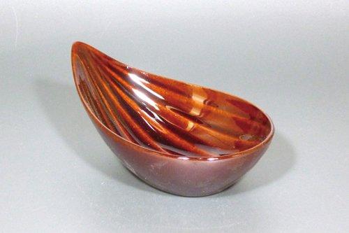笹型小鉢(茶)