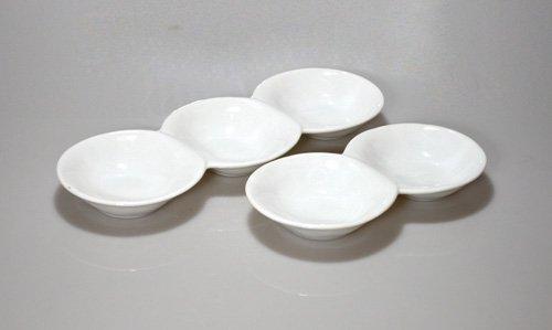 白だんご3連皿、2連皿