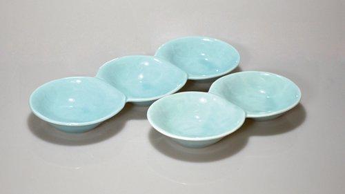 青磁だんご3連皿、2連皿