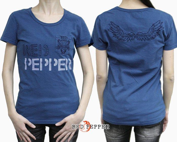 REDPEPPER ピグメント加工ウィング刺繍ロゴTシャツ No.71LT-43