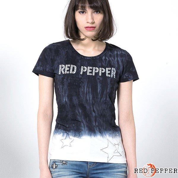 REDPEPPER 段染め星柄モチーフTシャツ No.71LT-42