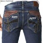 RED PEPPER メンズ ジップポケット セミストレートデニム No.RJ2064