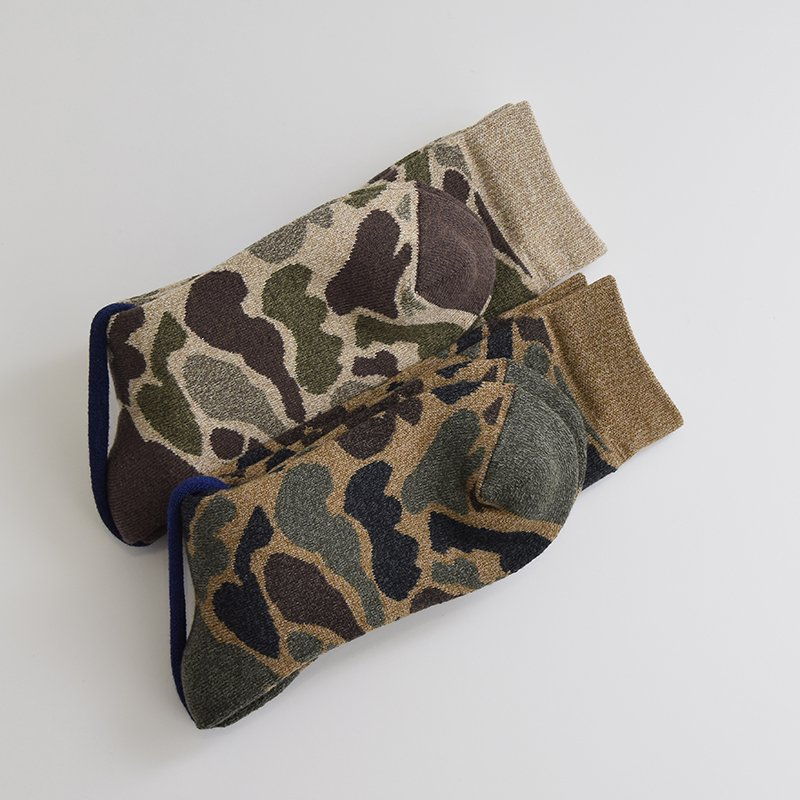 <img class='new_mark_img1' src='//img.shop-pro.jp/img/new/icons47.gif' style='border:none;display:inline;margin:0px;padding:0px;width:auto;' />ROTOTO<br>CAMO SOCKS【SOLD OUT】