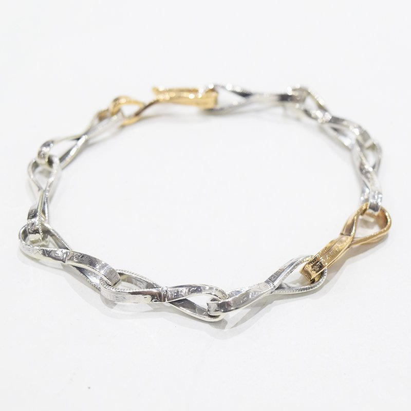 <img class='new_mark_img1' src='https://img.shop-pro.jp/img/new/icons47.gif' style='border:none;display:inline;margin:0px;padding:0px;width:auto;' />NORTH WORKS<br>10¢ TWIST CHAIN BRACELET 【B】