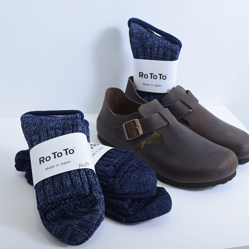 <img class='new_mark_img1' src='//img.shop-pro.jp/img/new/icons3.gif' style='border:none;display:inline;margin:0px;padding:0px;width:auto;' />ROTOTO<br> DENIM TONE SOCKS