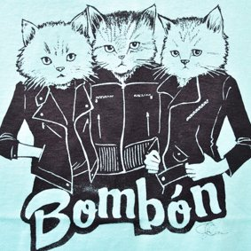 【BAND tee】Bombón tee(mintgreen/cat)