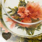 #45 福禄寿喜(ふくろくじゅき)エリタージュ Héritage 緑茶[黄山毛峰] とカーネーションの工芸茶