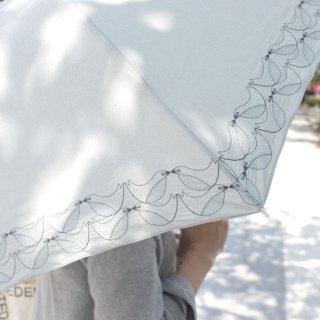 【刺繍タイプ】korko(コルコ)/ 晴雨兼用 刺繍 折りたたみ傘 / バードソング 【UPF50+】【紫外線カット率90%以上】
