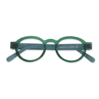 Have a look / リーディンググラス / Circle Twist / グリーン・ライトブルー / 度数1.0〜3.0 / ハブアルック / 既成老眼鏡 /北欧デザイン