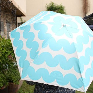 【プリントタイプ】korko(コルコ)/ 晴雨兼用 折りたたみ傘 / スティナ【UPF50+】【紫外線カット率99%以上