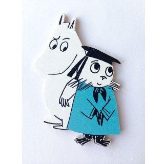 【ネコポス発送可】ムーミン Moomin/マグネット(ムーミンとニブリング)