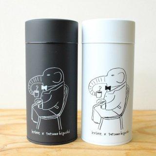 【2019アニバーサリー】アニマルキャニスター(ぞうとfika)/ コーヒー缶 / 樋口たつの×krone クローネ オリジナル【北欧雑貨】