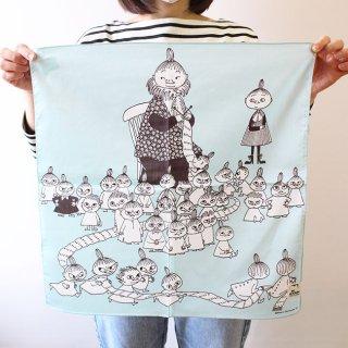 【ネコポス発送可】Moomin ムーミン ハンカチ ミイのマフラー (ブルー)【北欧】