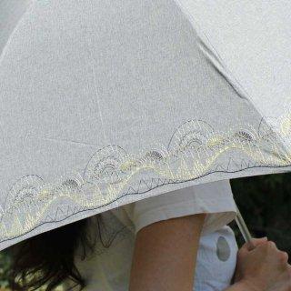 【刺繍タイプ】korko(コルコ)/ 晴雨兼用 刺繍 折りたたみ傘 / ブルクスヴァナラの山脈 【UPF50+】【紫外線カット率90%以上】