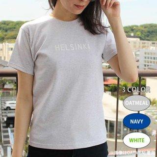 Scandinavian cafe ロゴTシャツ(HELSINKI / ヘルシンキ) /  サイズ(160・S・M・L) / カラー(ホワイト・ネイビー・オートミール)