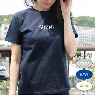 Scandinavian cafe ロゴTシャツ(SUOMI / スオミ) /  サイズ(160・S・M・L) / カラー(ホワイト・ネイビー・オートミール)