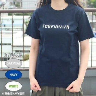 Scandinavian cafe ロゴTシャツ(KOBENHAVN / コペンハーゲン) / サイズ(160・S・M・L)/カラー(ホワイト・ネイビー・オートミール)