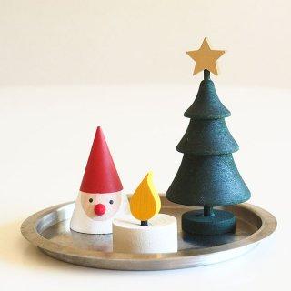 【そのまま飾れる】ラッセントレー/クリスマス3点セット /LARSSONS TRA/クリスマス/サンタ/木製