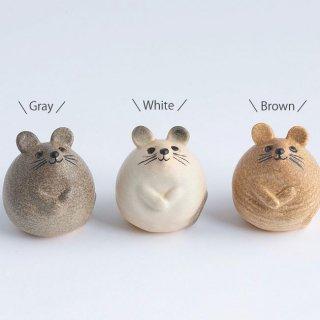 リサ・ラーソン 3匹のねずみ Lisa Larson 置物 (グレー、ホワイト、ブラウン)