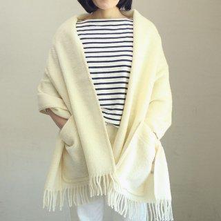 【新色】ラプアン カンクリ マリア ポケットショール(ホワイト)/ LAPUAN KANKURIT MARIA Pocket Shawl / 北欧 【送料無料】