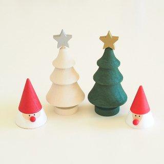 【そのまま飾れる】ラッセントレー / クリスマス4点セット / LARSSONS TRA / クリスマス / サンタ/木製