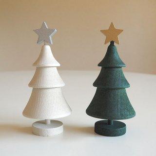 【2点セット】ラッセントレー / スウェーデンツリー スター(グリーン&ホワイト)2色セット / LARSSONS TRA / クリスマス / ツリー/木製