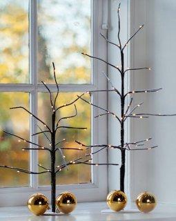 【SIRIUS】 Kira Tree Snowy Brown H35cm、H50cm / シリウス /  ツリースノーブラウン(大小セット)LEDライト
