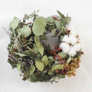 【Kanon 花とみどりと】 ドライリース(kw-15-c) /  クリスマス / 1点もの