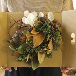 【Kanon 花とみどりと】 ドライリース(kw-27-c) /  クリスマス / 1点もの