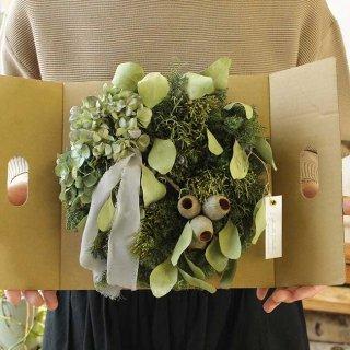 【Kanon 花とみどりと】 ドライリース(kw-19-c) /  クリスマス / 1点もの