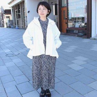 ダンプ 裾フレアマウンテンジャケット(フリーサイズ)/ 4カラー(アイボリー・ベージュ・グレイッシュカーキ・グレンチェック)