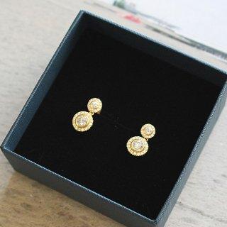イースト・コペンハーゲン フラワーピアス Flower Earrings / ゴールド /  EAST COPENHAGEN