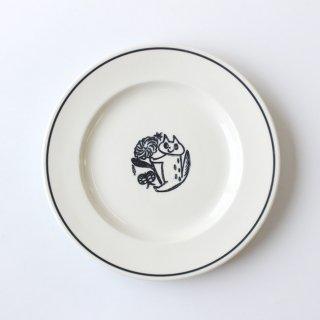 【NOIR】 鹿児島睦×JOHN JULIAN  / Side Plate 21cm Cat(ネコ) / 磁器 / サイドプレート