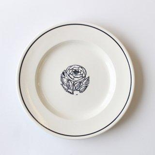 【NOIR】 鹿児島睦×JOHN JULIAN  / Side Plate 21cm Rose(バラ) / 磁器 / サイドプレート
