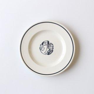 【NOIR】 鹿児島睦×JOHN JULIAN  / Side Plate 16cm Dog(イヌ) / 磁器 / サイドプレート