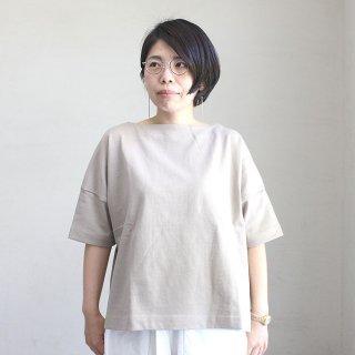 【残りわずか】バスク生地 ボックスカットソー 半袖Tシャツ(ボーダー3色・無地4色)  2021新作