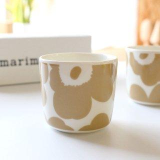 マリメッコ ウニッコ ラテマグ / marimekko  UNIKKO Latte Mug / ベージュ×ホワイト(単体販売)