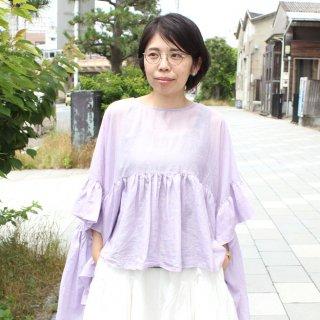 【インスタライブ販売会】綿麻シャンブレー ギャザーワイドブラウス(全4色)