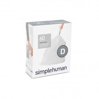 【simplehuman / シンプルヒューマン】コードD パーフェクトフィットゴミ袋 【4箱1セット】【メーカー直送品】