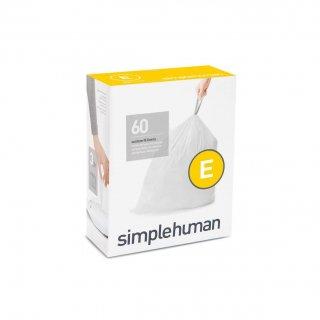 【simplehuman / シンプルヒューマン】コードE パーフェクトフィットゴミ袋 【4箱1セット】【メーカー直送品】