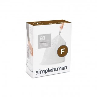 【simplehuman / シンプルヒューマン】コードF パーフェクトフィットゴミ袋 【4箱1セット】【メーカー直送品】