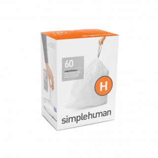 【simplehuman / シンプルヒューマン】コードH パーフェクトフィットゴミ袋 【4箱1セット】【メーカー直送品】