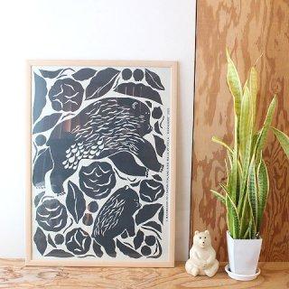 【2021年夏限定】 マリメッコ アートポスター Karhuemo カルフエモ  / 50×70cm(木製フレーム付)/ marimekko 【送料無料】