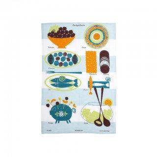 【almedahls】 アルメダールス キッチンタオル(パーティーテーブル・ブルー) 【1点までネコポス発送可】