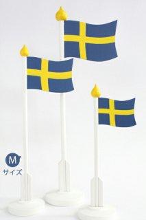 LARSSONS TRA ラッセントレー 木製置物 テーブルフラッグ スウェーデン (Mサイズ)