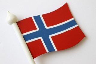 LARSSONS TRA ラッセントレー 木製置物 北欧テーブルフラッグ (ノルウェー)