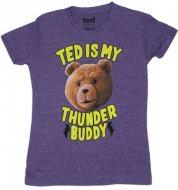 【在庫あり】 映画テッド Tシャツ 女性サイズ パープル TED コメディ ハングオーバーを超えた!?