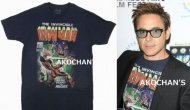 【僅か在庫有り】アイアンマン 3 Tシャツ トニースターク ロバート・ダウニー Jr. 着用同デザイン Ironman 3 衣装